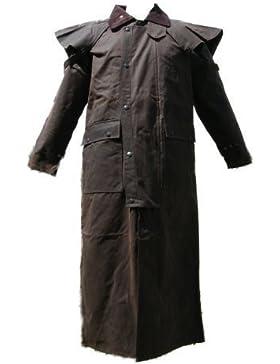 Campbell Cooper-Abrigo Stockmans-Chaqueta algodón encerado de largo, Autralien-nuevo
