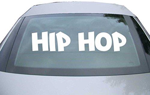 INDIGOS UG - Aufkleber Heckscheibe & Motorklappe DE7048 - weiß - 600x126 mm - Hip Hop Musik Gangsta Style Rap Ghetto - Auto Scheiben Fenster Heckklappe Tuning Racing JDM - Die Cut