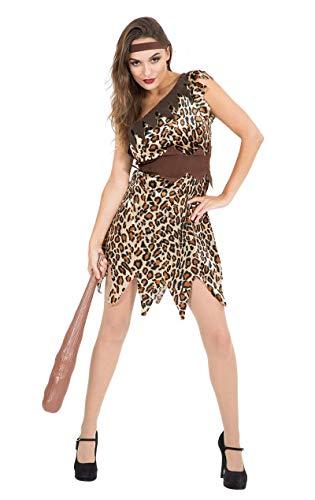 Steinzeit Höhlenmensch für Damen Kostüm Fasching Verkleidung Mottoparty Small
