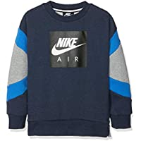 Nike B NK Air Crew, Camiseta para Niños, Azul (obsidianheather/dk Grey Heather), S
