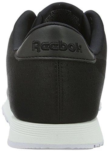 Reebok Classic Nylon Jacquard, Baskets Basses Femme Noir (Black/White)