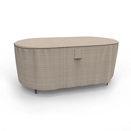 Budge Industries Bleu Ardoise Table Ovale avec Housse 71,1 cm de Hauteur Premium Two-Tone Tan