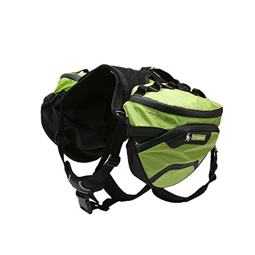 Pettom Hunderucksack Schultertasche für Hunde und Katzen Transportbox Haustiertasche tragbar Tasche Waterproof Hund Pack Reisen Camping Wandern Trainings Einstellbare Hund für Small & Medium & Large