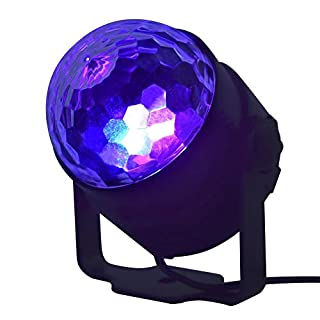 Kardu.C Mini LED light 15 colors model crystal small magic ball light mini stage light with Upgraded remote control for DJ Club Disco KTV Party Bar