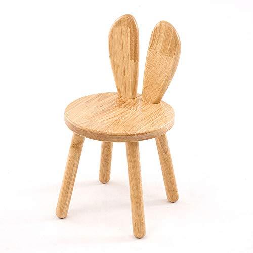 �tigkeits-Stuhl für 1-5 Jahre alt, hölzerner Speisetisch Hölzerner Spieltisch-Kleinkind-Spieltisch-Holztisch-Stuhl-Kinderaktivität-Tabellen-Kind-Speisetisch (Color : Straight Ears) ()