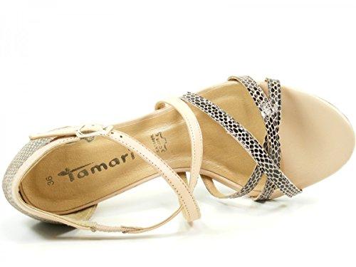 Tamaris 28339, Sandales ouvertes femme Beige