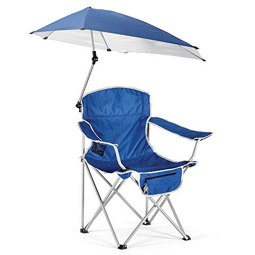 HM&DX Portable Chaises Pliantes exterieures Chaises de Camping avec Pare-Soleil Protection Contre Le Soleil Chaise de Plage Pliante Compact Jardin Camping pêche randonnée Picnic -Bleu