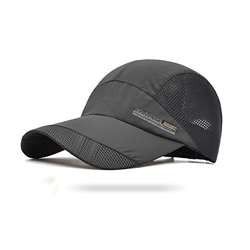 G7Explorer Quick Drying Breathable Running Outdoor Hat Cap Only 2 Ounces (DimGray)