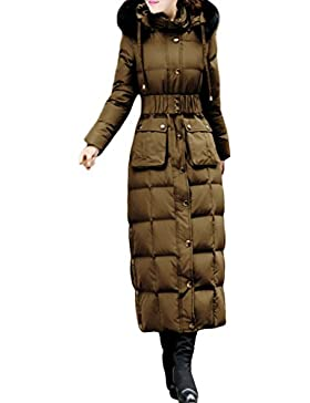 Sexyggs Women's Fashion Slim Warm Hooded Duck Down Long Down Coat