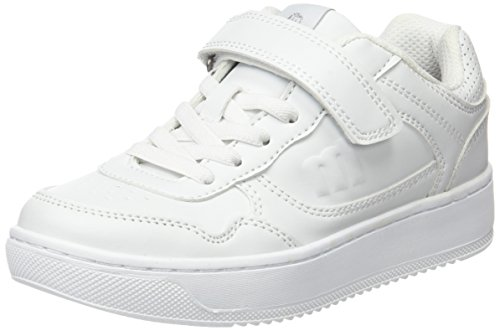 MTNG Attitude 84405, Sneakers basses mixte enfant ACTION PU BLANCO