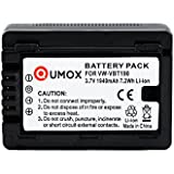 QUMOX batterie VW-VBT190 1940mAh pour PANASONIC V520, V210, V727 V757 V777 VX878 WX979