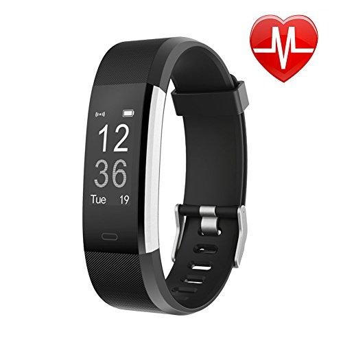 Letsfit Fitness Tracker mit Herzfrequenz, Fitness Armband, IP67 Wasserdicht Bluetooth Sportuhr mit GPS Aktivitätstracker Schrittzähler, Schlaf Monitor, Kalorienzähler, Pulsuhr für Android/iOS