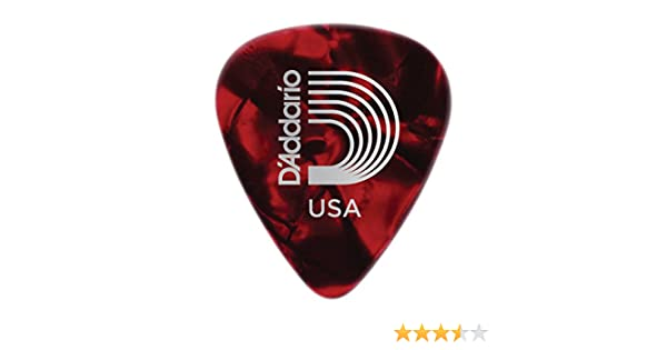 D/'Addario 1CRP6-10 Red Pearl Celluloid Guitar Picks 10 pack Heavy