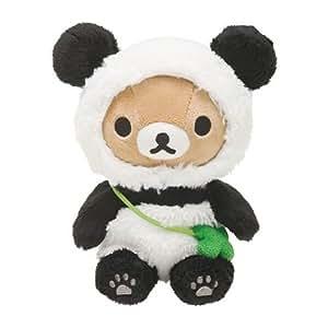Ours brun en peluche kawaii Rilakkuma déguisé en panda