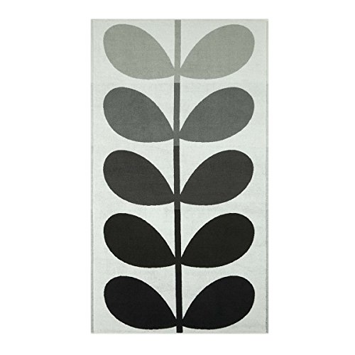 Orla Kiely Large Stem Grey Extra Large Bath Sheet, 100x178cm (Gestreiften Badelaken)