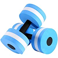 Dilwe Mancuernas de Ejercicios Aeróbicos de Agua EVA 1 Par Herramienta de Ejerciciode Natación Acuático Fitness
