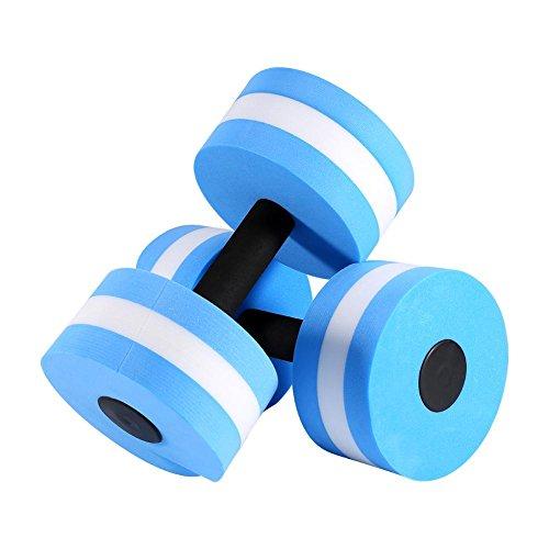 Dilwe Wasser Aerobic Hantel Wasser EVA Barbell Aqua Fitness Schwimmen Übung Werkzeug 1 Paar -
