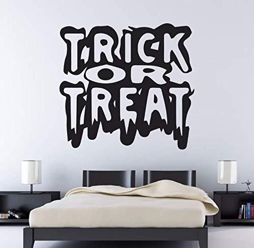 limicry Trick Or Treat Halloween Party Abnehmbare Wandaufkleber Für Wohnzimmer Tapete Kunst Dekor Vinyl Wandtattoos Home Aufkleber 60X56 cm (Halloween Trick Or Treat Cartoon)