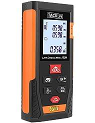 Tacklife HD 100m Classique Télémètre Laser Numérique Mètre Laser Calcule Distance Surface Volume Pythagore pour Bricolage avec Fonction Muet