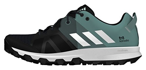 adidas Damen Kanadia 8 TR W Laufschuhe, Schwarz (Color Core Black/ White/Vapour Steel), 38 EU