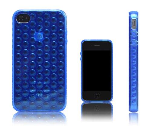 Xcessor Bubbles TPU Schutzhülle für Apple iPhone 4 und 4S Blue / Transparent Blue / Transparent