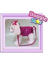 DOGGIE STAR® Borsa a forma di cane razza Terrier fucsia