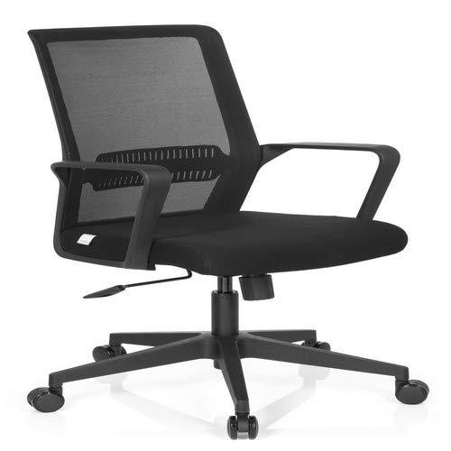 hjh OFFICE 732030 Bürostuhl Preston Stoff/Netz Schwarz Home-Office Schreibtischstuhl mit Lendenwirbelstütze
