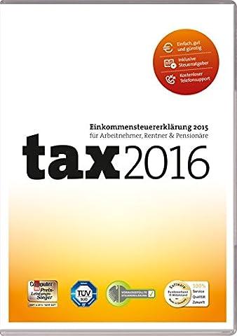 tax 2016 (für Steuerjahr 2015 / Frustfreie Verpackung)