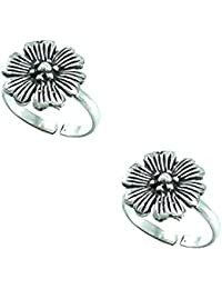 Style A Bit Sterling Silver Toe Ring Set For Women TOE010-O