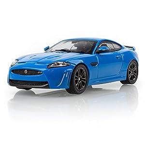 Jaguar 50JDCAXKRS Xkr-S, Modelo de Carreras francesas, Azul, Escala 1:43
