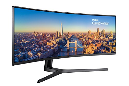 Samsung C49J890 124,46 cm (49 Zoll) Premium Curved Business Monitor (HDMI, DisplayPort, USB Type-C, USB 3.0 HUB, 3,5mm Audio, 5 ms Reaktionszeit (G/G)) schwarz