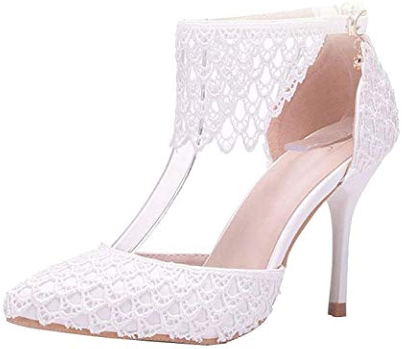 Willsego Cinturino alla Caviglia da Donna Che Cade Cade Cade Scarpe da Cerimonia da Cerimonia Bianche Formali per Il Partito...   Beautiful  dae2f8