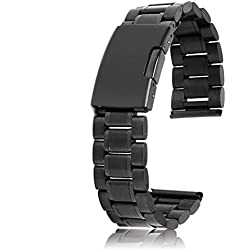 WINOMO Premium Quality Stainless Steel Solid Links Bracelet Watch Band Strap Straight End 20mm