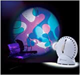Mathmos Space Projector in White with Lava Lamp Effect Wheel - Violet / Blue