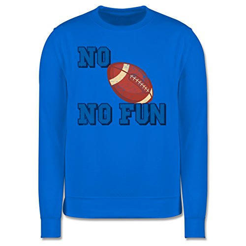 Sonstige Sportarten - No Football no Fun Vintage - Herren Premium Pullover Himmelblau
