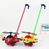 Qsoleil Kunststoff Flugzeug Push-Along Spielzeug Baby Kleinkind Ziehen Spielzeug (zufällige Farbe)