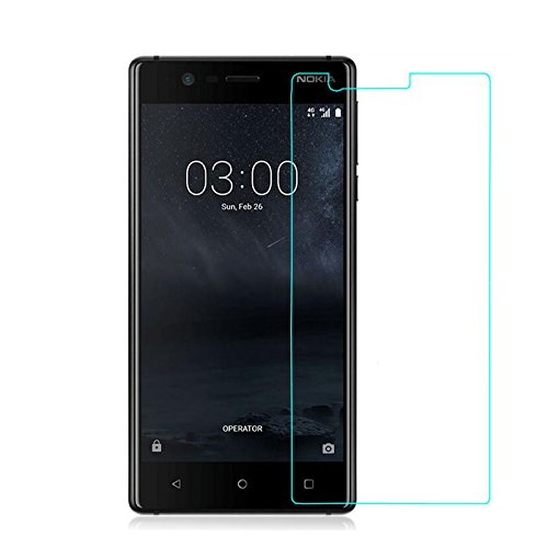 Snoogg Full Body Tempered Glass Screen Protector [ Full Body Edge to Edge ] [ Anti Scratch ] [ 2.5D Round Edge] [HD View] For Nokia 3  available at amazon for Rs.165