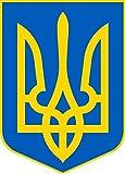 Vinilo Adhesivo para el coche o la moto ' Ucrania ' Escudo Sticker / Pegatina sin fondo (ca. 11x7...