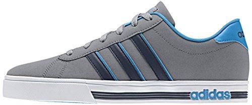 adidas Daily Team, Zapatillas de Deporte para Hombre, Gris / Negro / Azul (Gris / Negbas / Azusol), 39 1/3 EU
