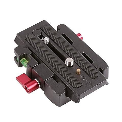 Orsda P200Connect Support adaptateur plaque de serrage rapide QR pour Manfrotto 500500Ah 701HDV 7M1W 577Tête de trépied stabilisateur de caméra vidéo et DSLR Slider Or212