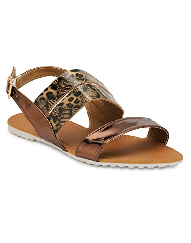 Yepme Women's Brown Rexine Sandals - YPWFOOT9646_6  available at amazon for Rs.299