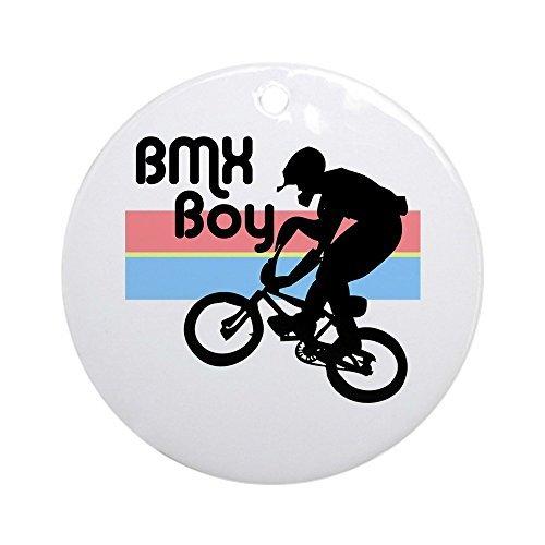 Weihnachtsdekoration 1980er Jahre BMX Boy rund für Weihnachtsbaum-Dekoration Jahrestag Geschenk ()