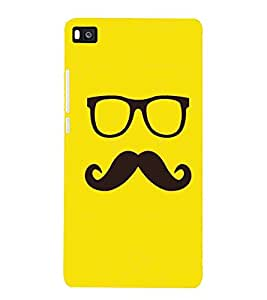 Cartoon, Black, Cartoon and Animation, Printed Designer Back Case Cover for Huawei P8 :: Huawei Ascend P8