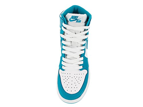 Nike Jungen Air Jordan 1 Retro High OG BG Basketballschuhe Blanco / Azul (White / Dk Powder Blue)