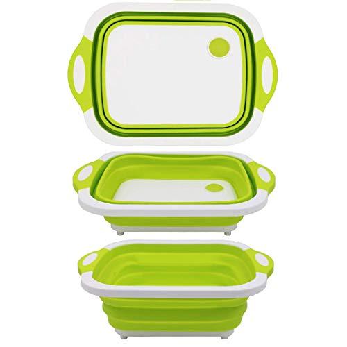 Goglor Tagliere Pieghevole Addensare Tagliere in Plastica, Bacino Alimentare Pieghevole Durevole BPA-Free Materiale TPR Tagliere Grande per Cucina Campo Viaggio