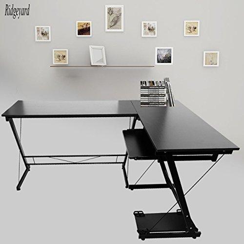 Ridgeyard angolo computer scrivania a forma di l angolo workstation casa ufficio studio tavolo scrivania bambini scuola studente termine studio regalo/presente