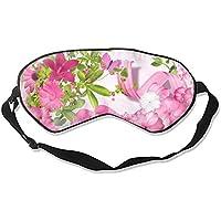 Artistic Pink Flower Ribbon Leaf Schlafmaske mit verstellbarem Riemen für Damen und Herren preisvergleich bei billige-tabletten.eu