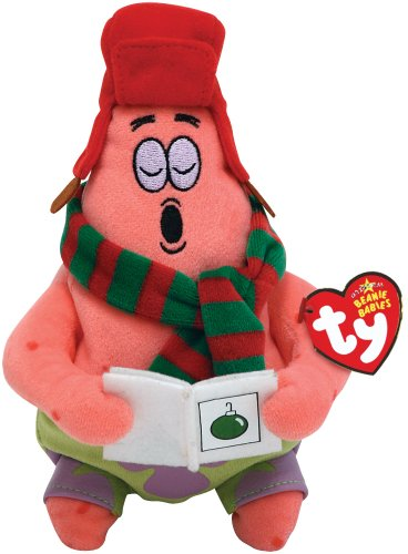 TY UK SPONGEBOB SCHWAMMKOPF PATRICK SILENT NIGHT STAR