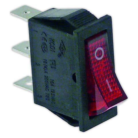 DOJA Industrial   Interruptor 11x30 mm I rojo con piloto   Interruptores