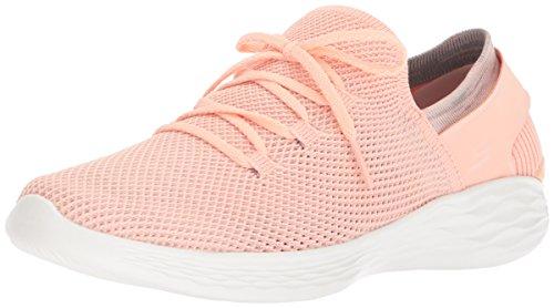 Skechers You-Rise, Zapatillas sin Cordones para Mujer, Varios Colores (Peach), 37.5 EU
